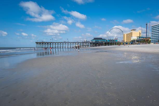 Pier 14  on Myrtle Beach stock photo