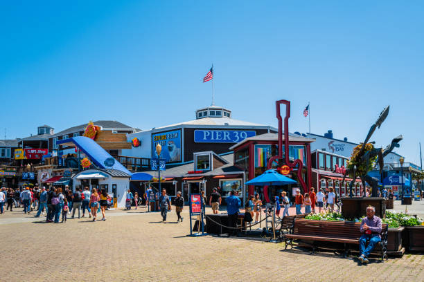 Pier 39 and Fisherman's Wharf in San Francisco, California, USA