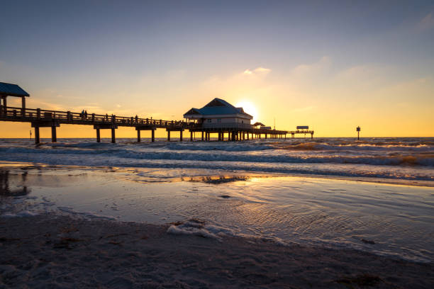 Pier 60 : Clearwater Beach. Clearwater, FL stock photo