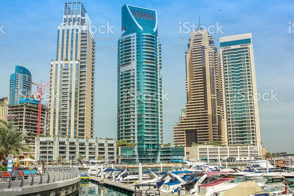 Pier 7 in Dubai Marina stock photo