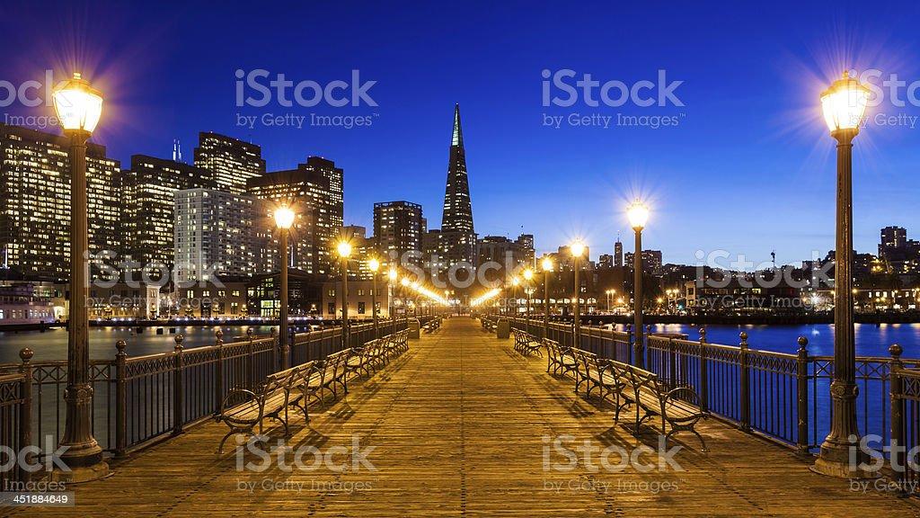 Pier 7 in San Francisco stock photo