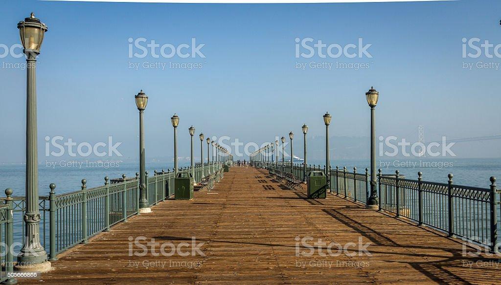 Pier 7 in the San Francisco bay area stock photo