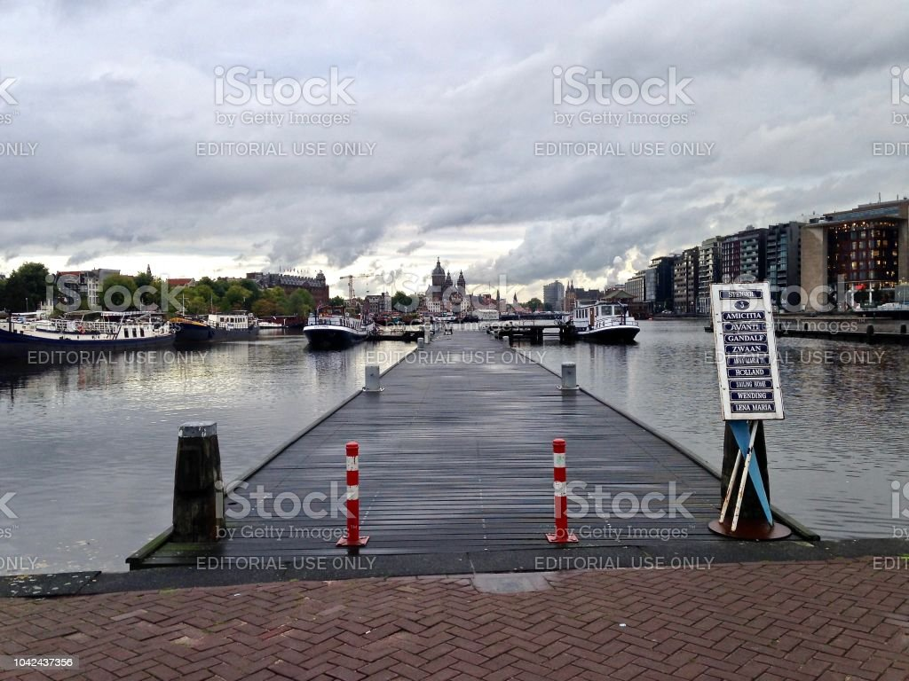 A Pier - Amsterdam Harbour stock photo
