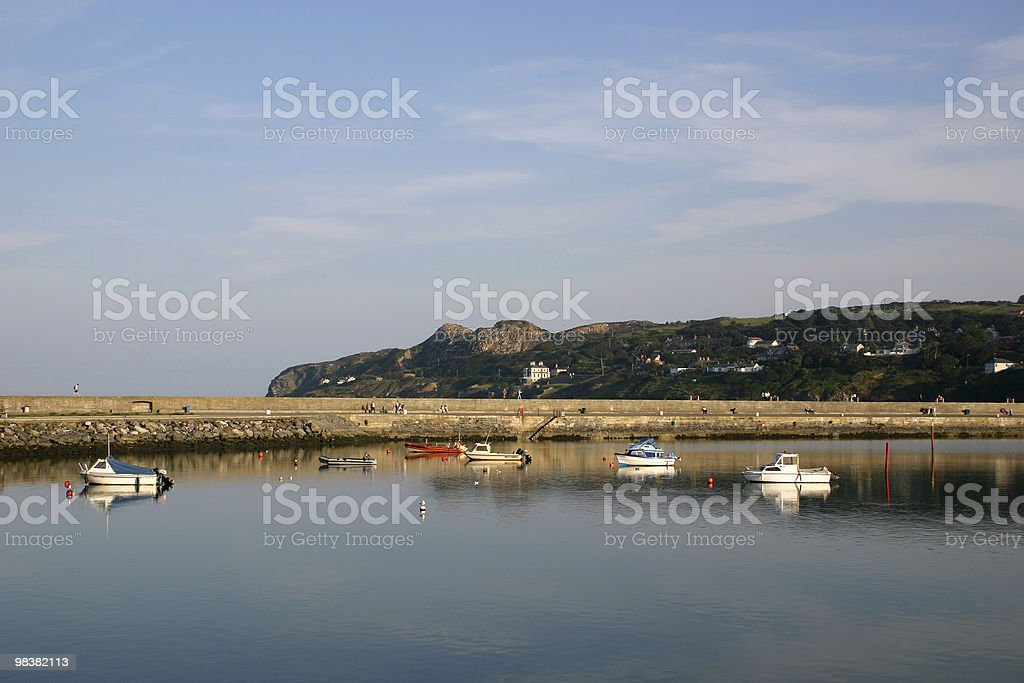 Pier and Bay royalty-free stock photo