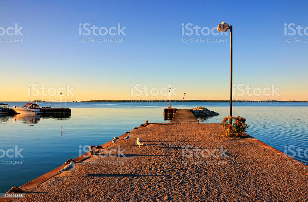 Pier and Boats stock photo