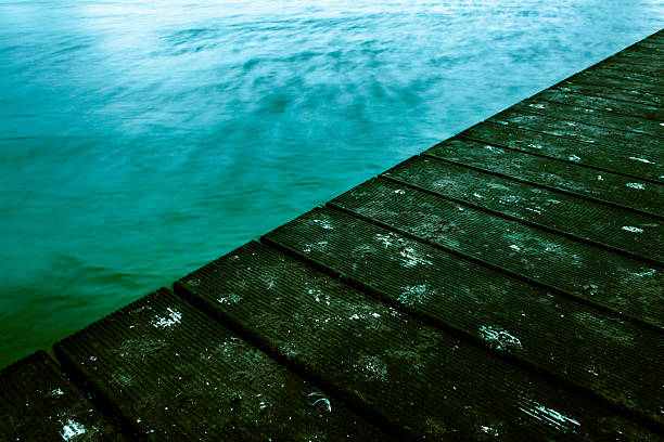 Pier and Water stock photo