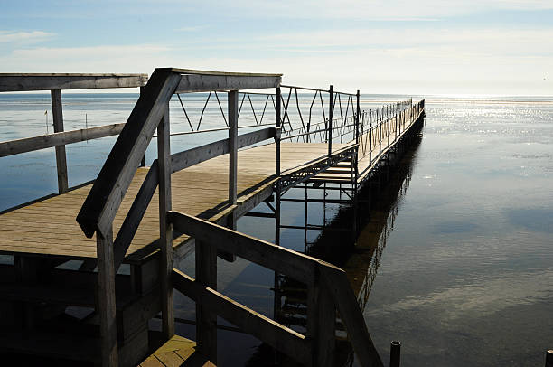 Pier at Baltic Sea stock photo