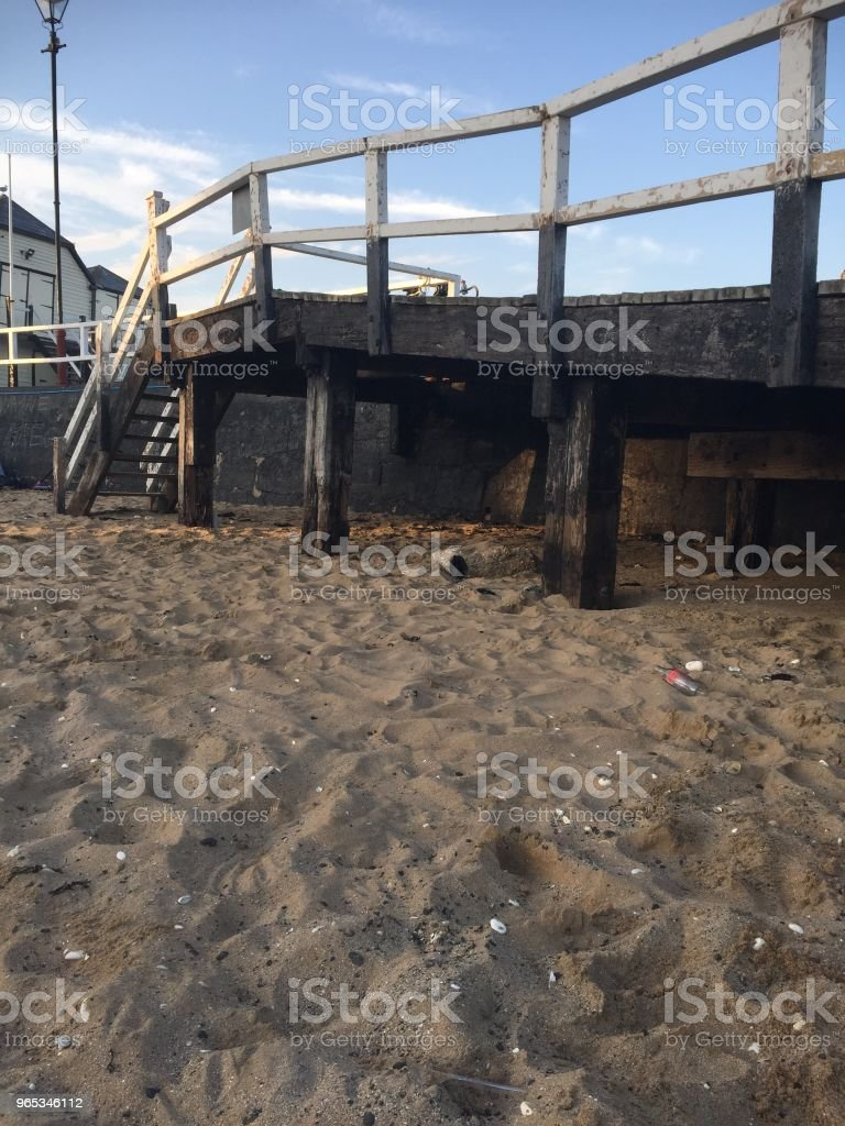 Pier at Broadstairs beach royalty-free stock photo