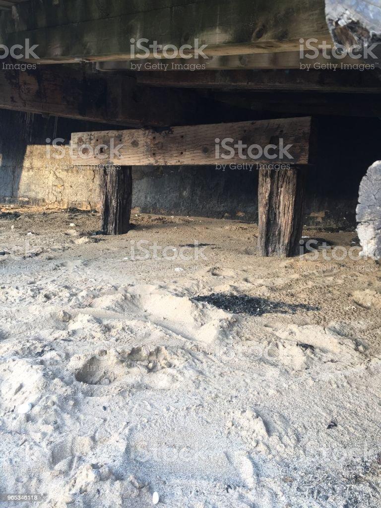 Jetée à Broadstairs plage - Photo de Bois flotté libre de droits