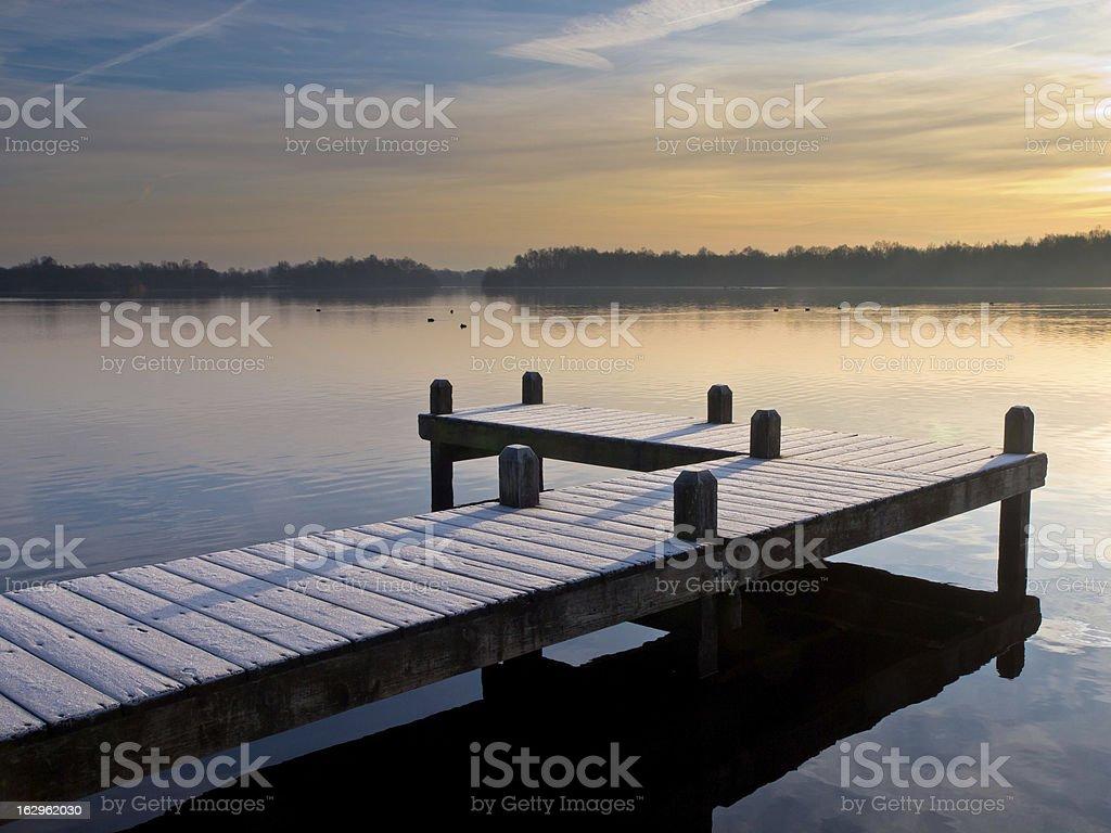 Pier at lake royalty-free stock photo