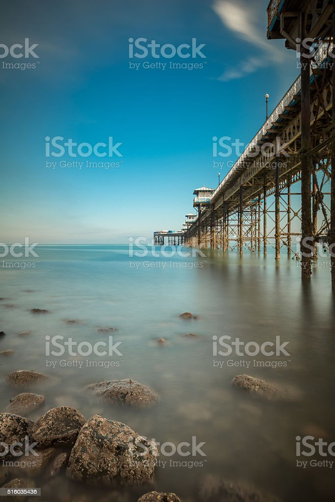 Pier at Llandudno, North Wales stock photo