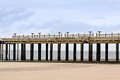 A view of infinity under the pier of Blankenberge, Belgium.
