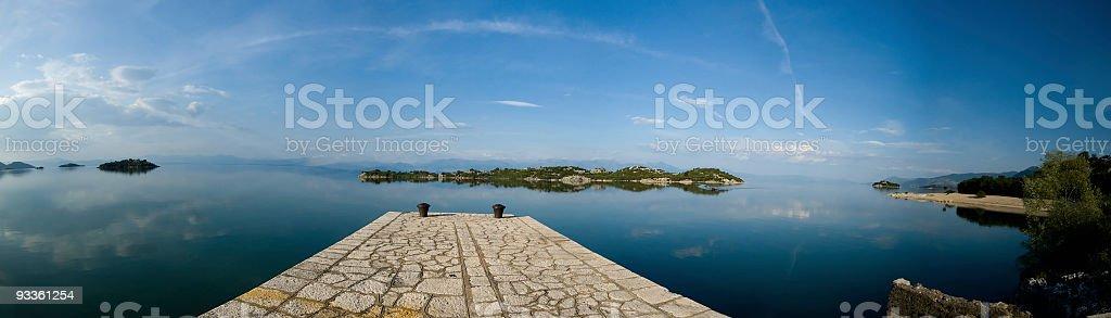 Pier at Skadar Lake stock photo