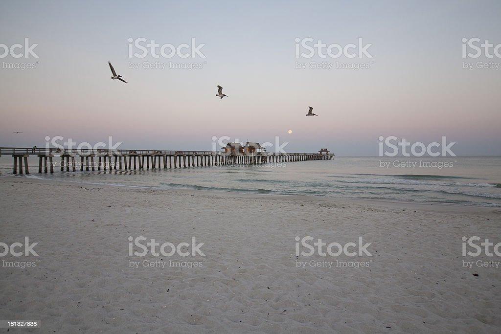 pier at sunrise royalty-free stock photo