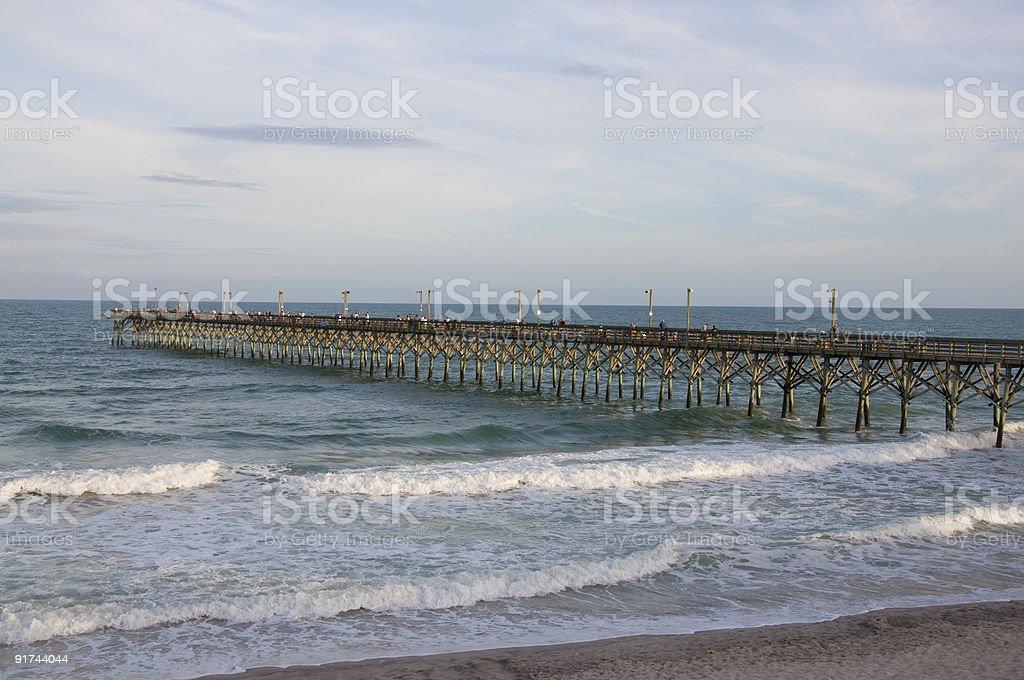 Pier at Surf City, NC stock photo