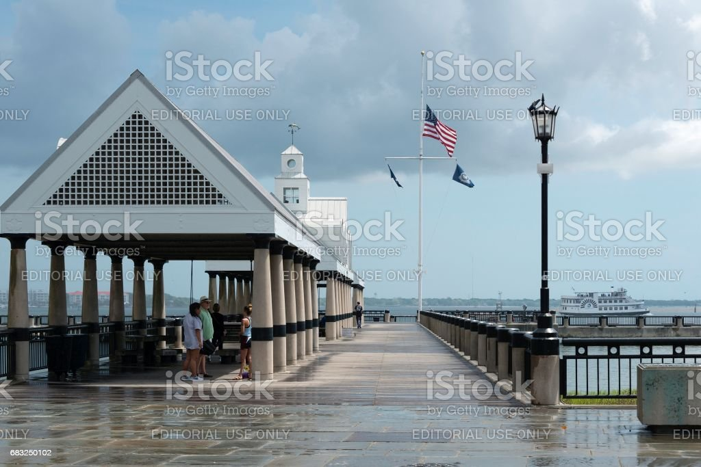 サウスカロライナ州チャールストン水辺公園の桟橋 ロイヤリティフリーストックフォト