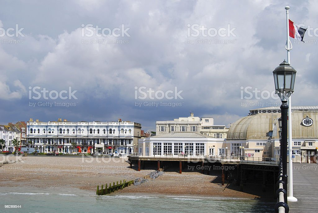 Pier at Worthing, West Sussex, England royalty-free stock photo