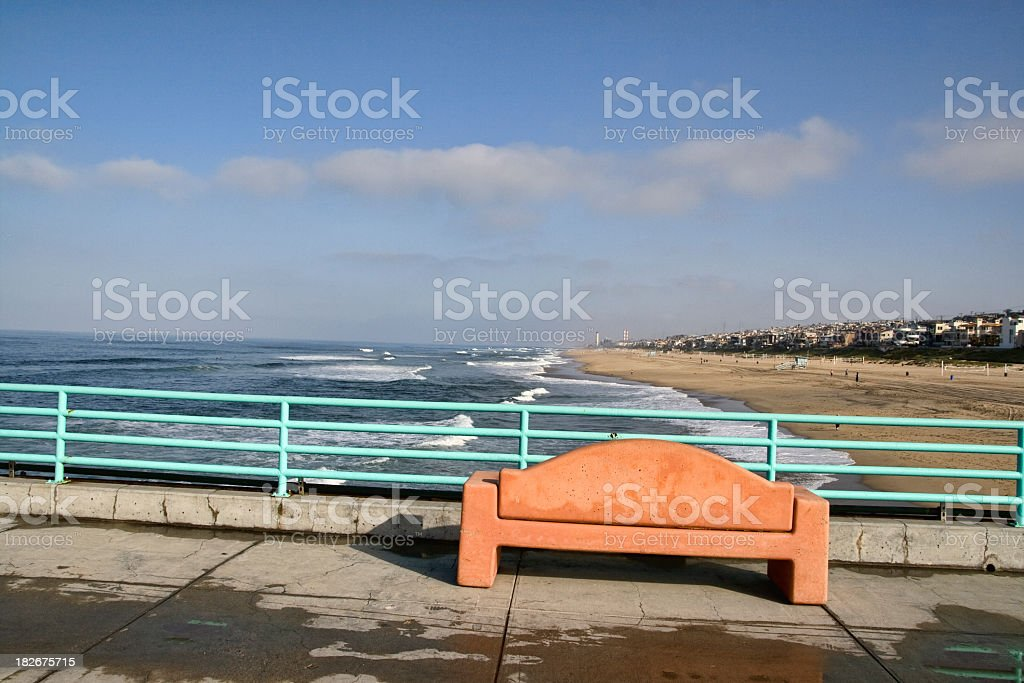 Pier Bench royalty-free stock photo