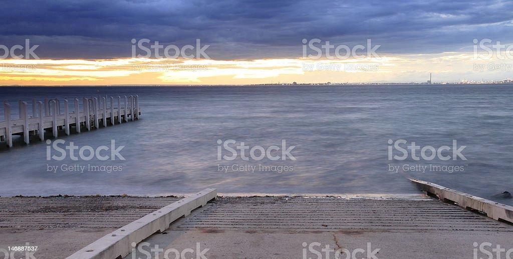 Pier & Boat Ramp stock photo