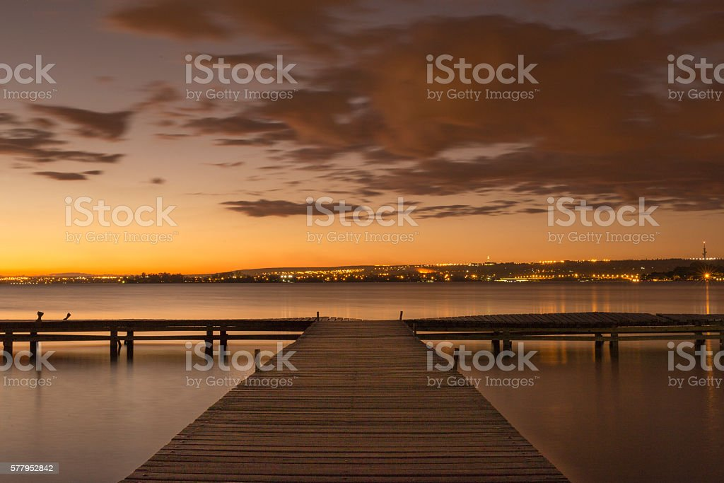 Pier by the lake - foto de stock
