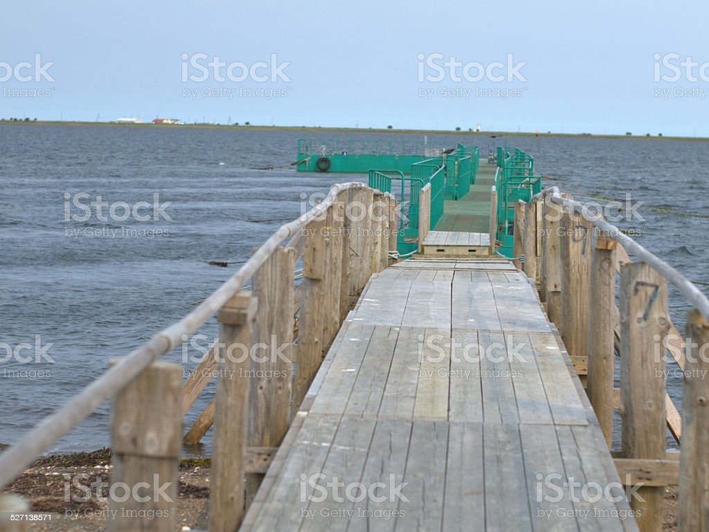 Pier by the Sea. stock photo