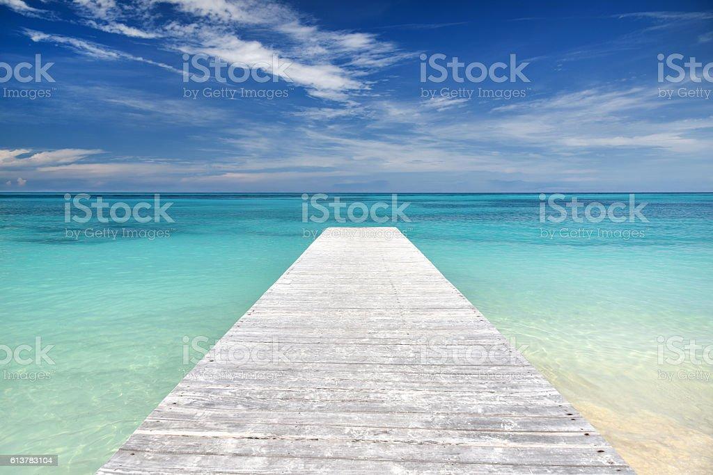 Pier, Cancun, Mexico stock photo