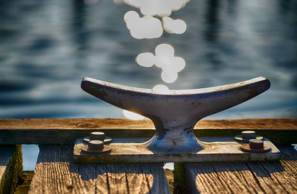 Pier close up in Schwerin Mecklenburg Vorpommern stock photo