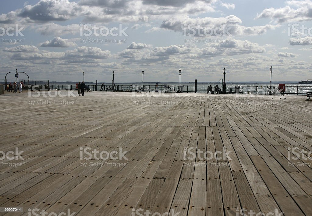 Pier end. royalty-free stock photo