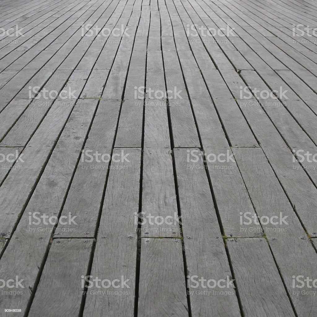 Pier Floor Perspective (Square) stock photo