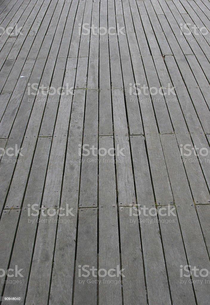 Pier Floor View (Portrait) stock photo