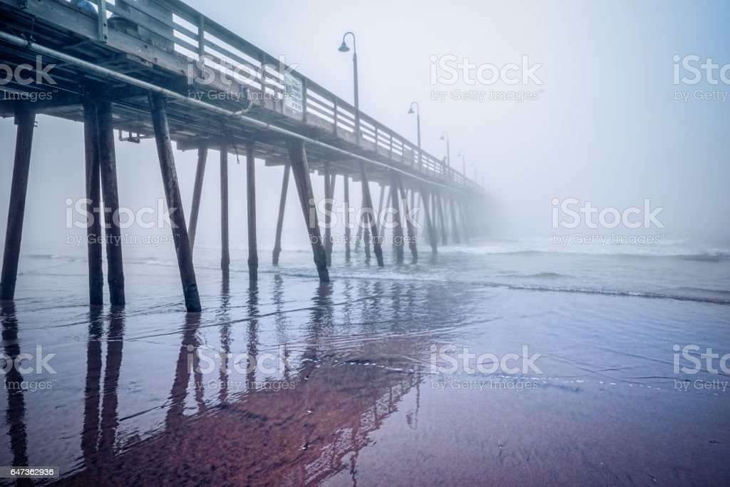 Pier Fog 1 stock photo