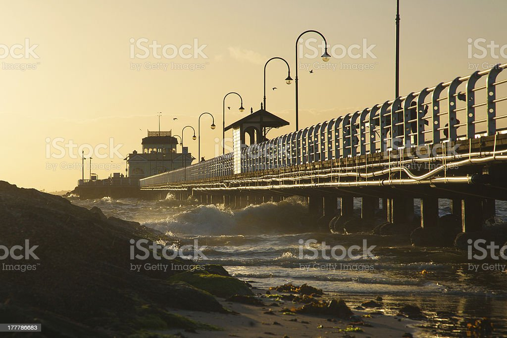 Pier from the ground royalty-free stock photo