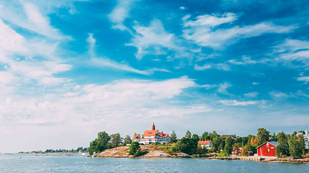 Pier, Harbour And Quay, Island Near Helsinki, Finland. stock photo