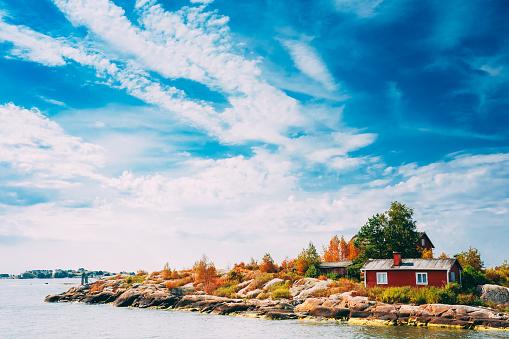 Pier, Harbour And Quay, Island Near Helsinki, Finland.