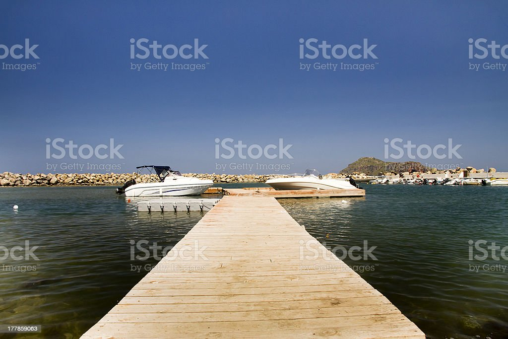 Pier in Crete, Greece royalty-free stock photo