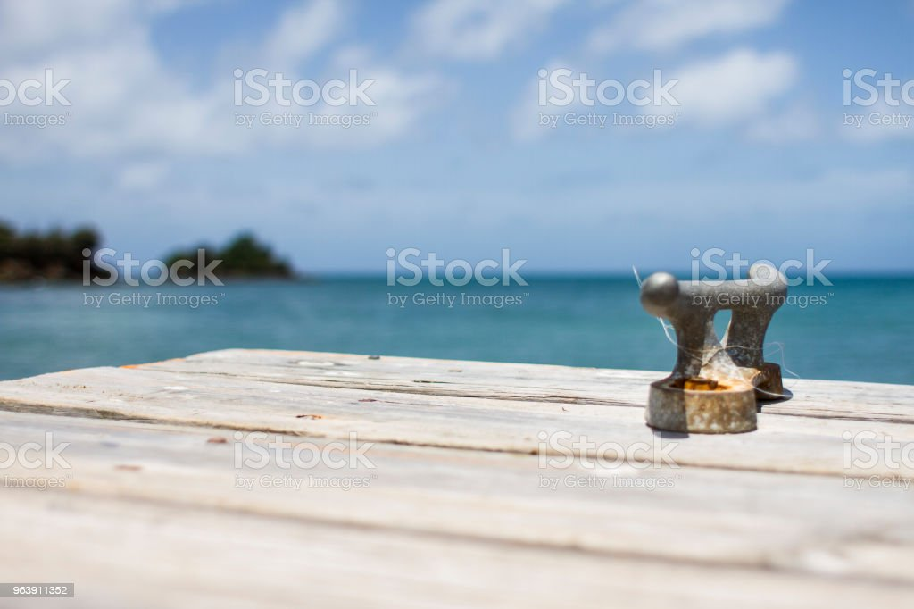 Pier in Grenada stock photo