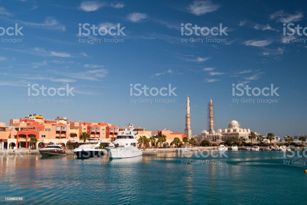 Pier in Hurghada. stock photo