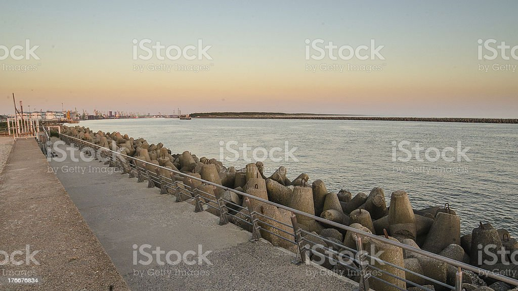 Pier in Klaipeda, Lithuania royalty-free stock photo