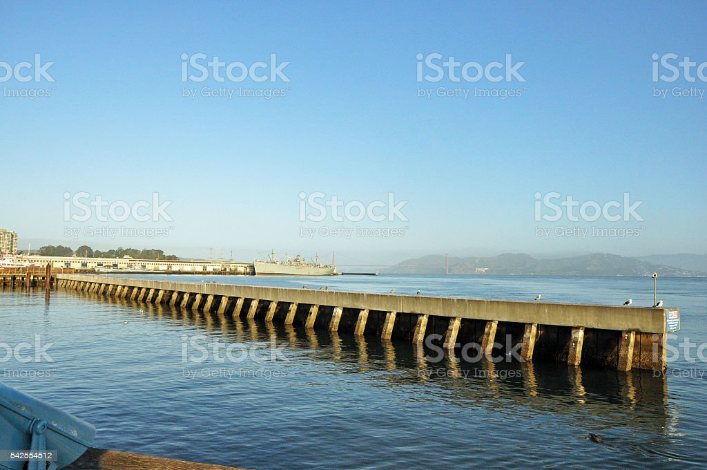 Pier in San Francisco, California stock photo