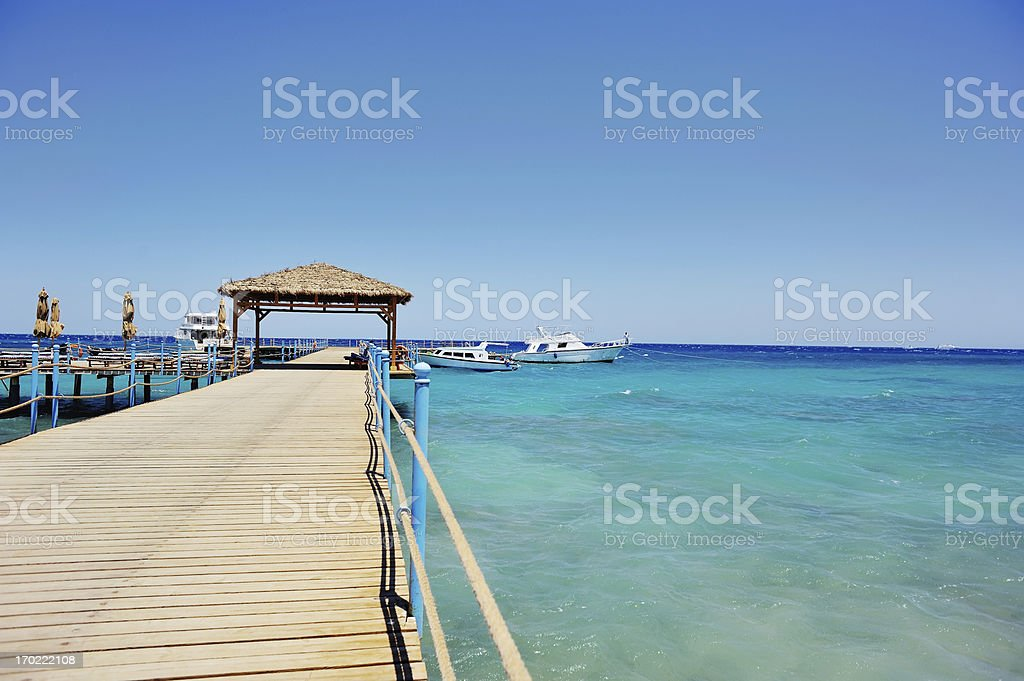 Pier in sea royalty-free stock photo