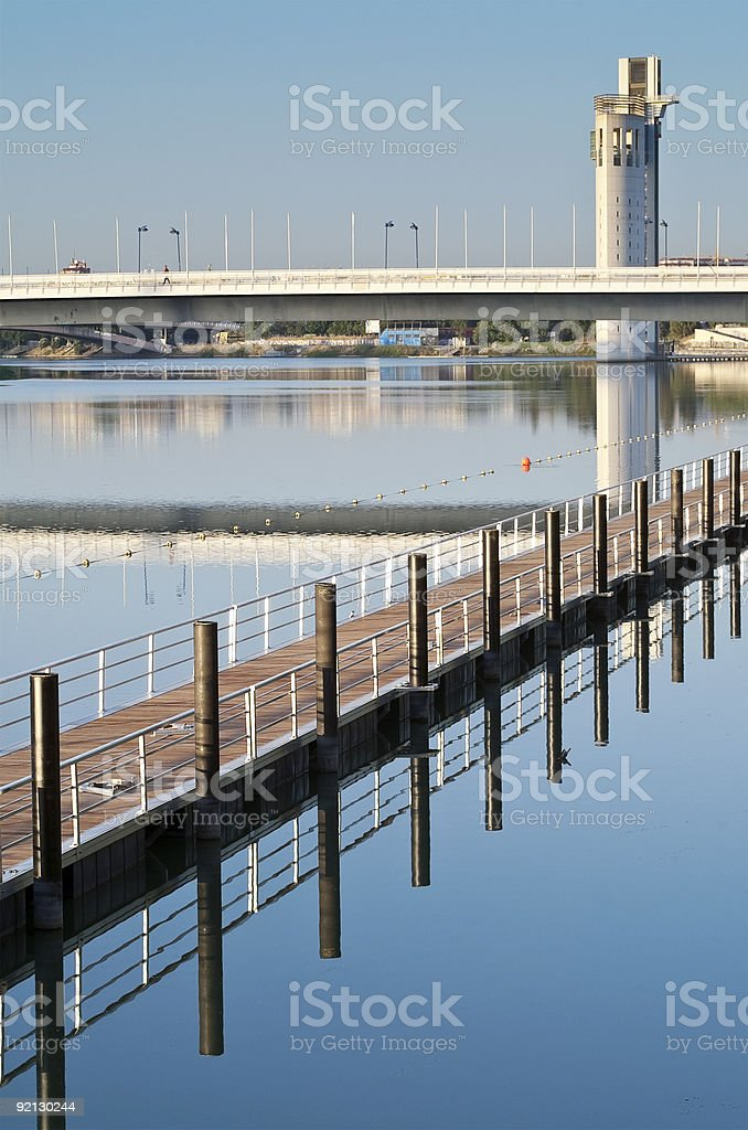 Pier in Seville royalty-free stock photo