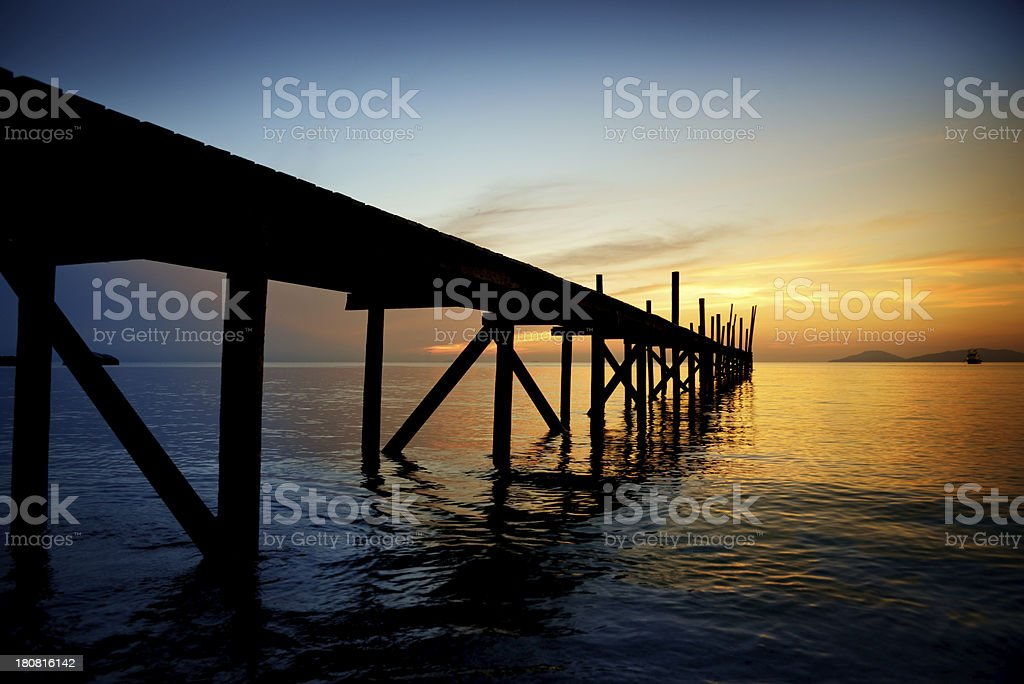 Pier in Sunset royalty-free stock photo