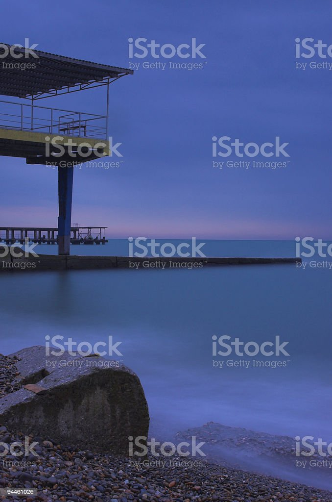 Pier in the Black sea royalty-free stock photo