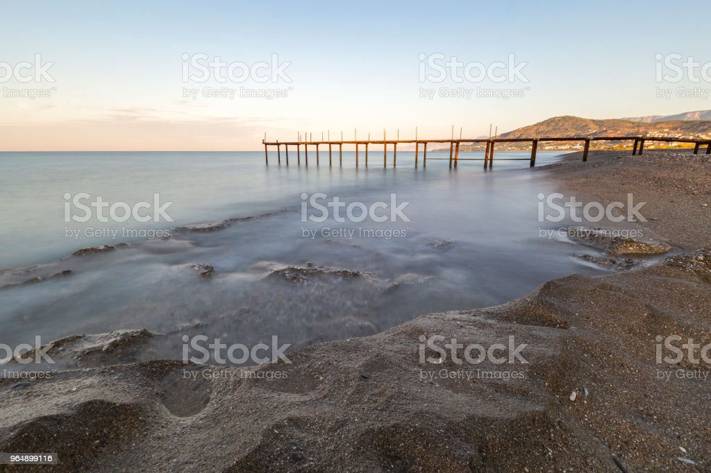 Pier in the Mediterranean royalty-free stock photo