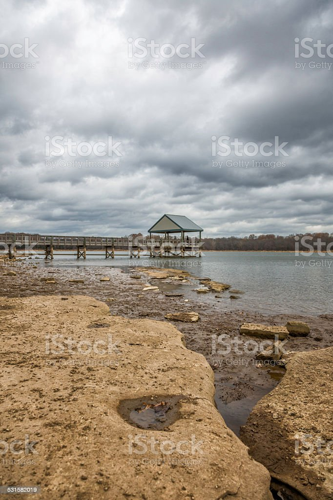 Pier in the Winter stock photo