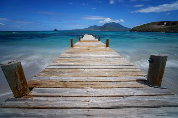 Pier im Turtle Beach, St. Kitts – Foto