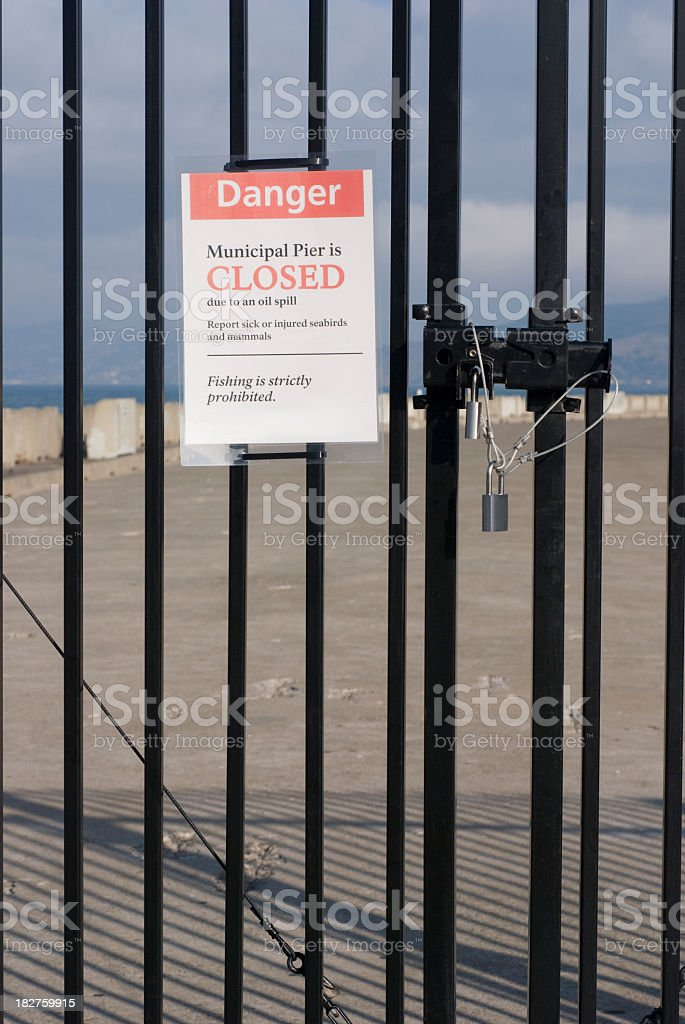 Pier is closed royalty-free stock photo