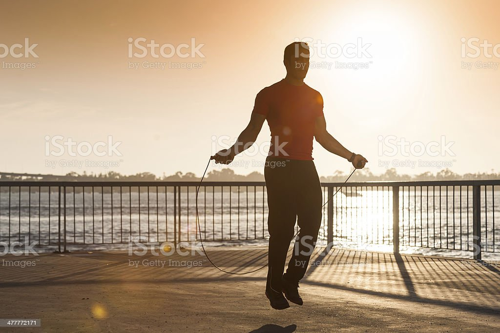 Pier Jump Roping stock photo
