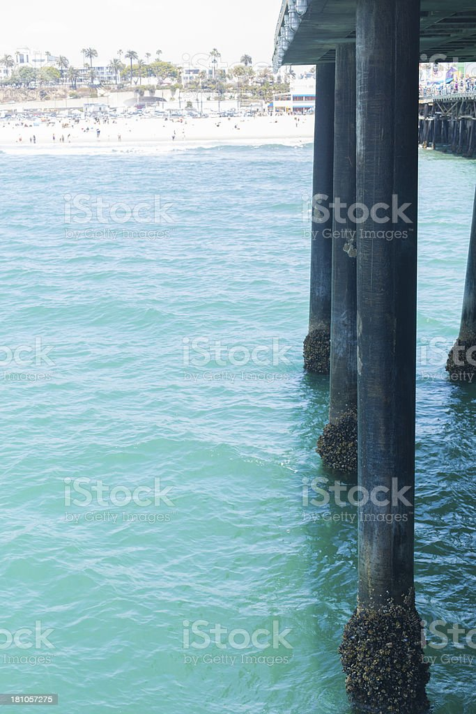 Pier Legs royalty-free stock photo