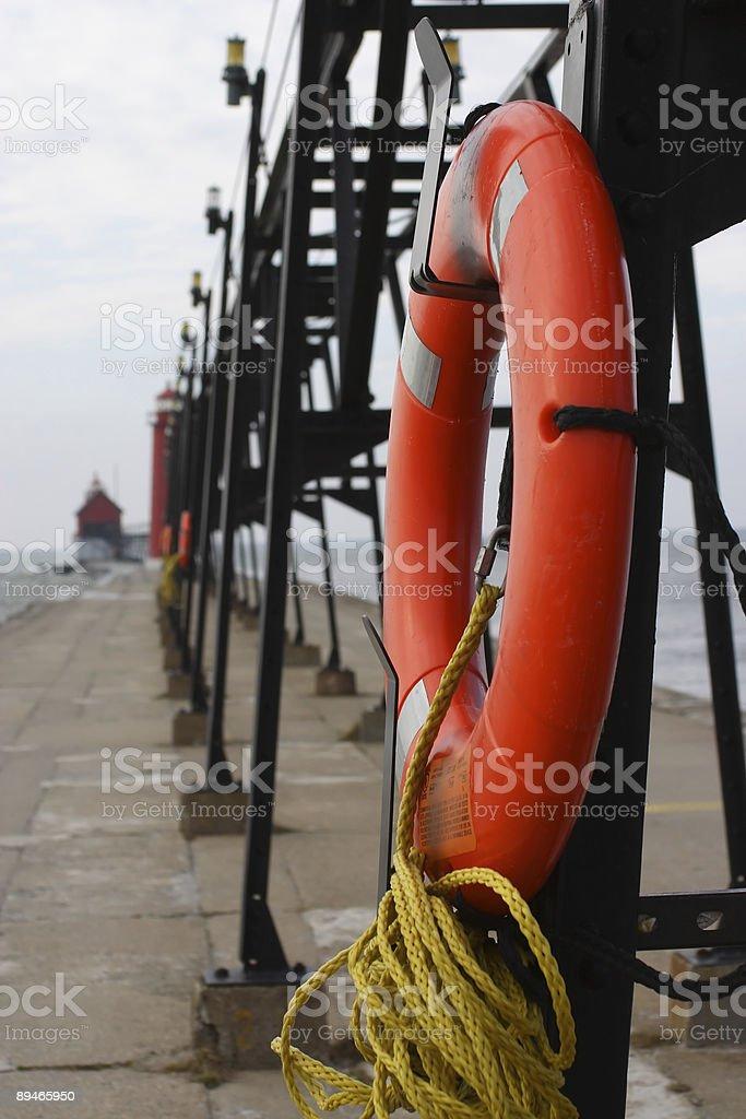Pier Rettungsring zu Lizenzfreies stock-foto